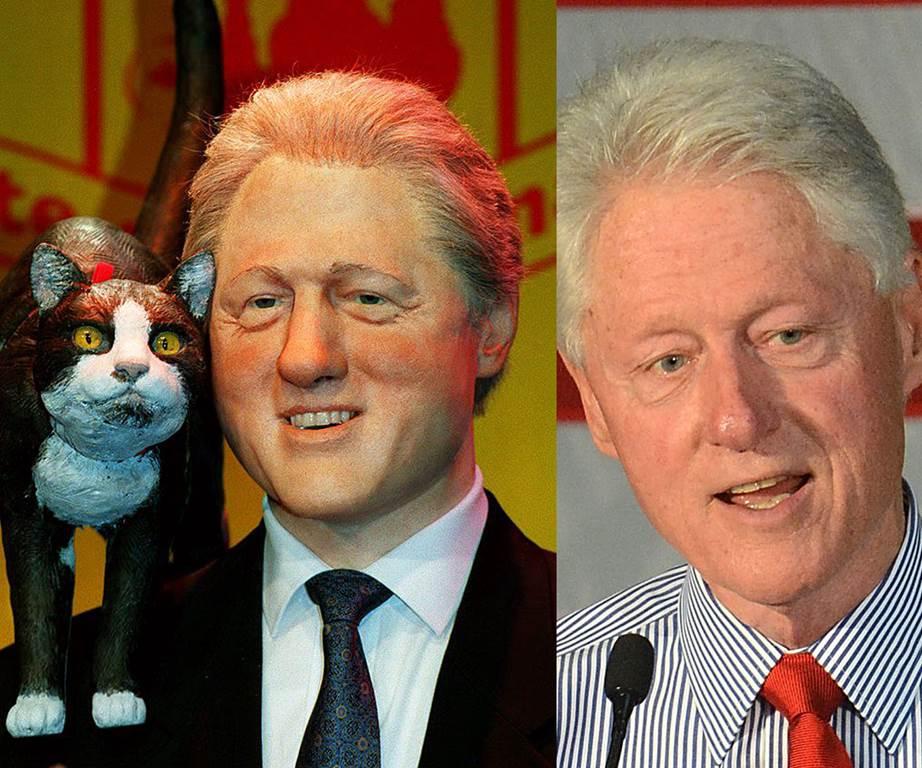 bill clinton wax