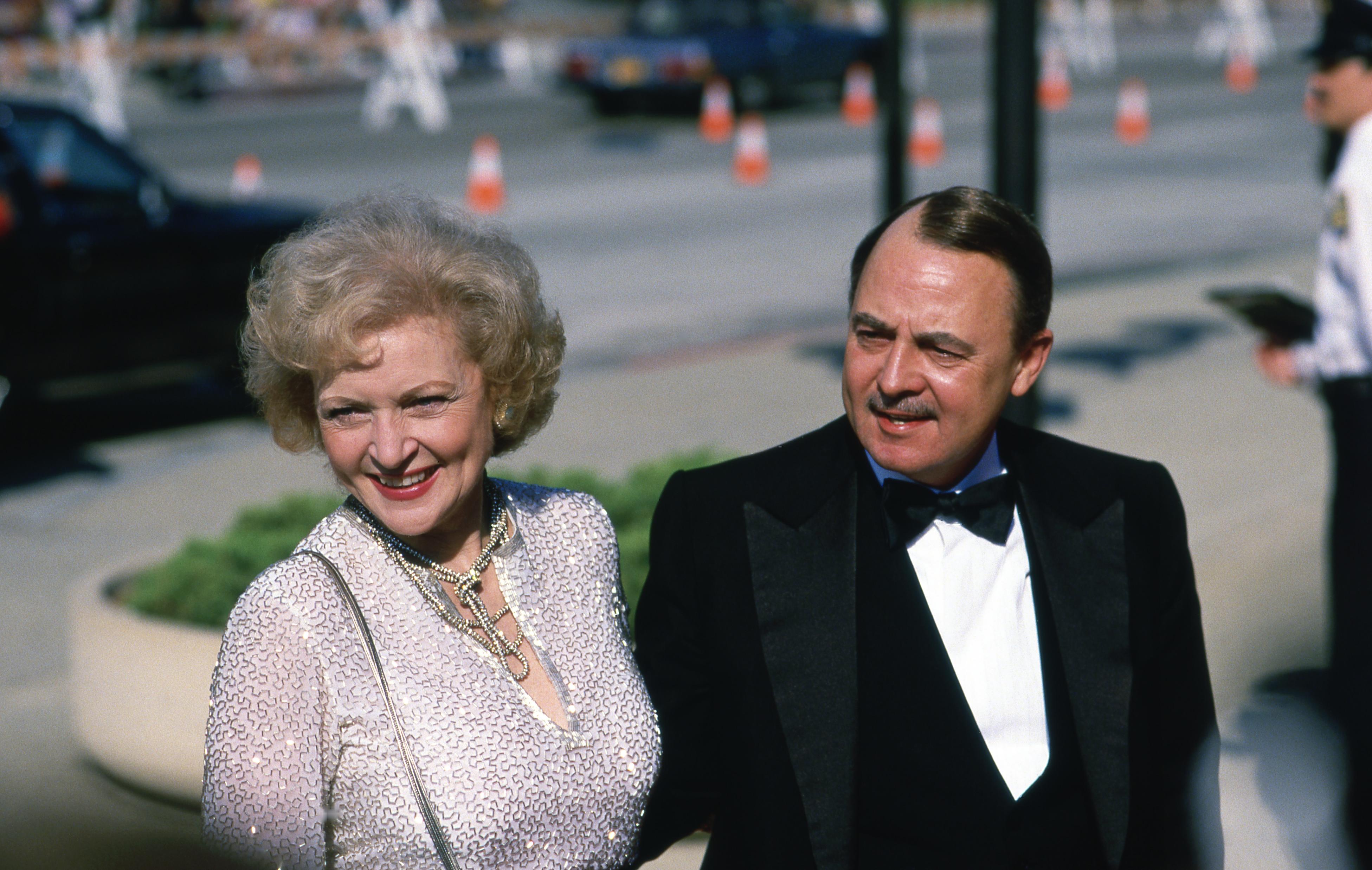 John Hillerman and Betty White, Getty