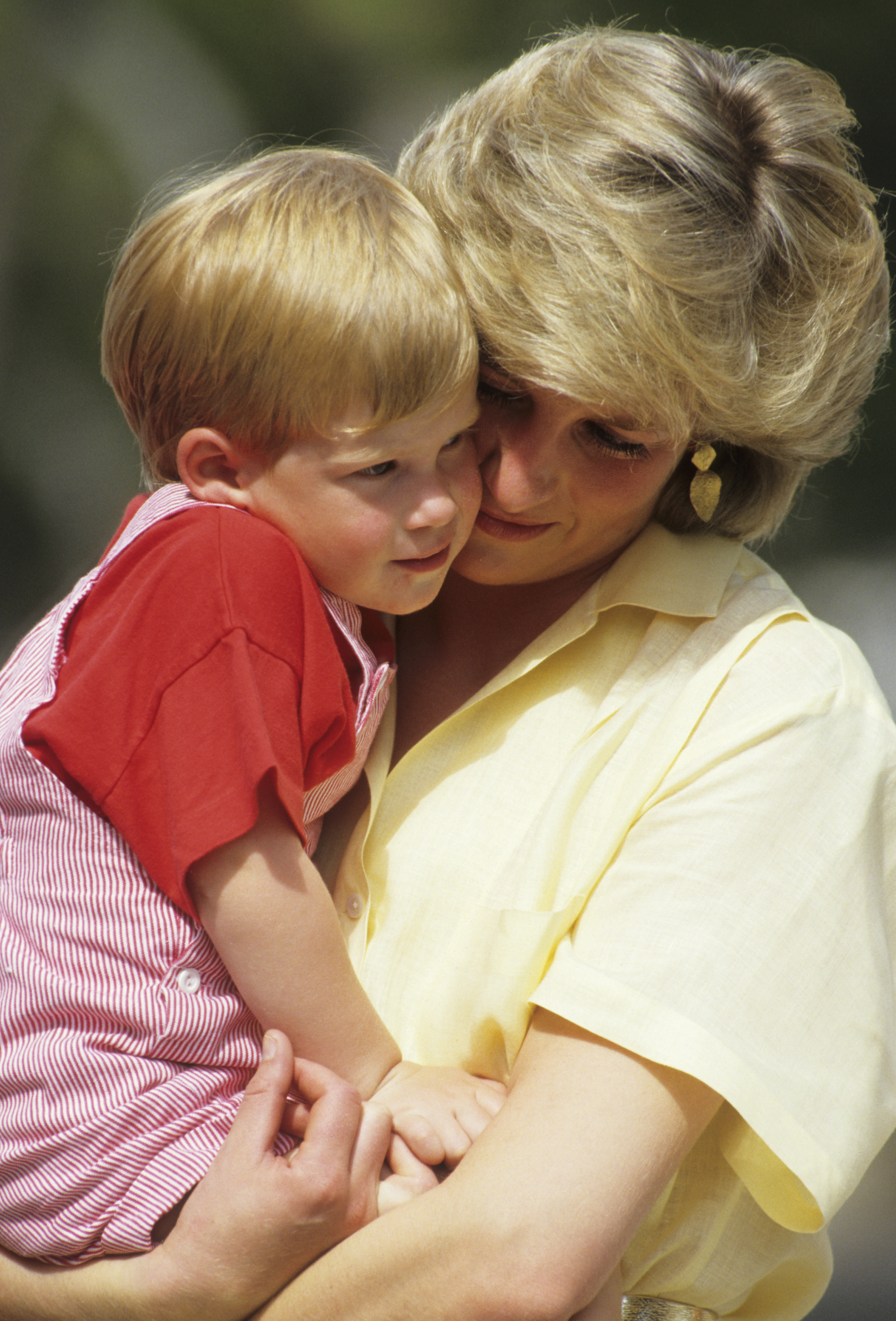 harry and diana in spain