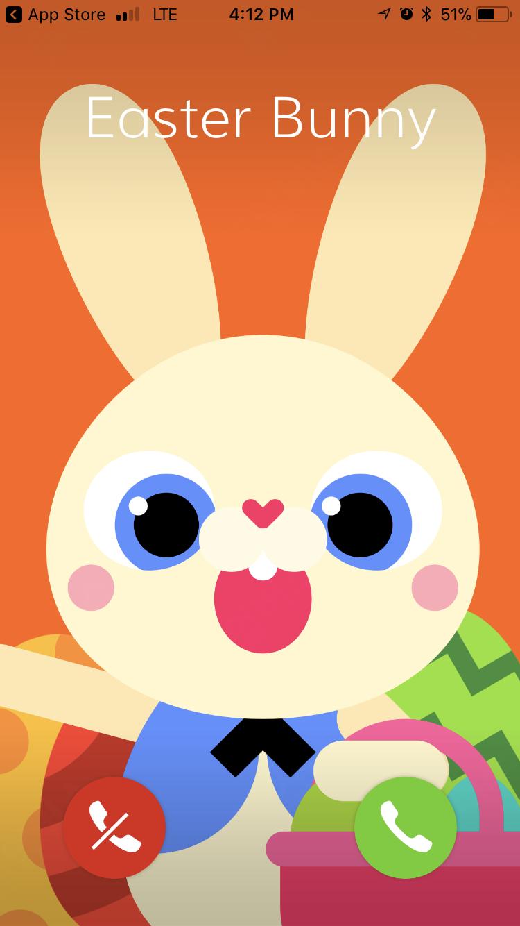easter bunny call