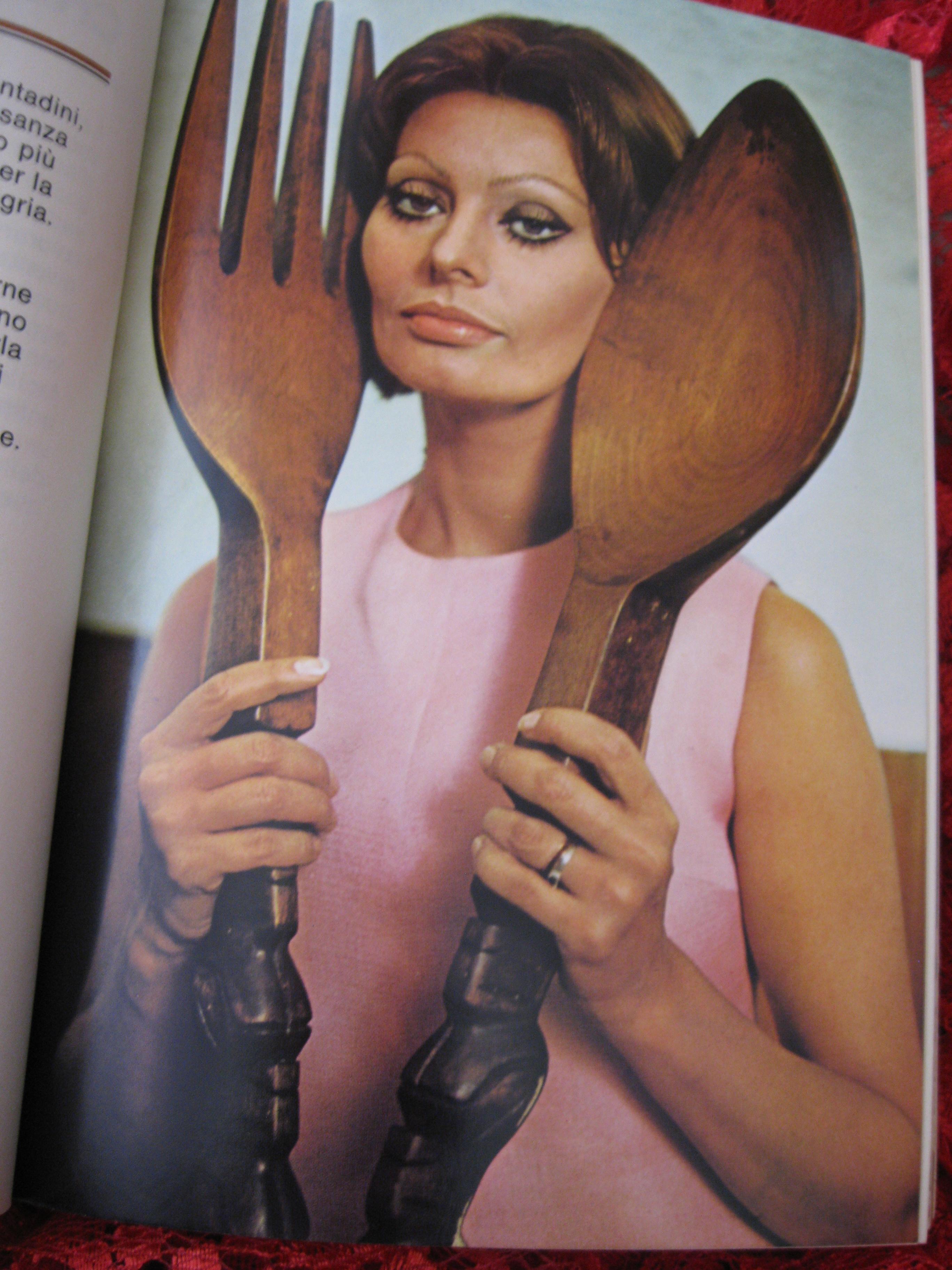 sophia loren fork spoon