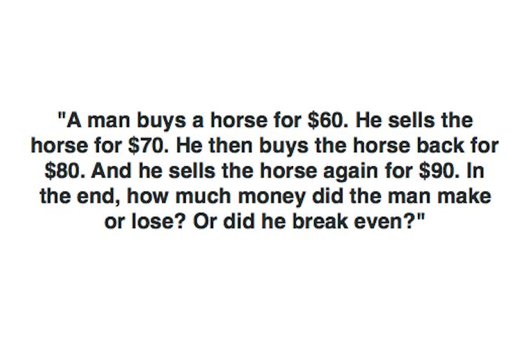 horse math riddles