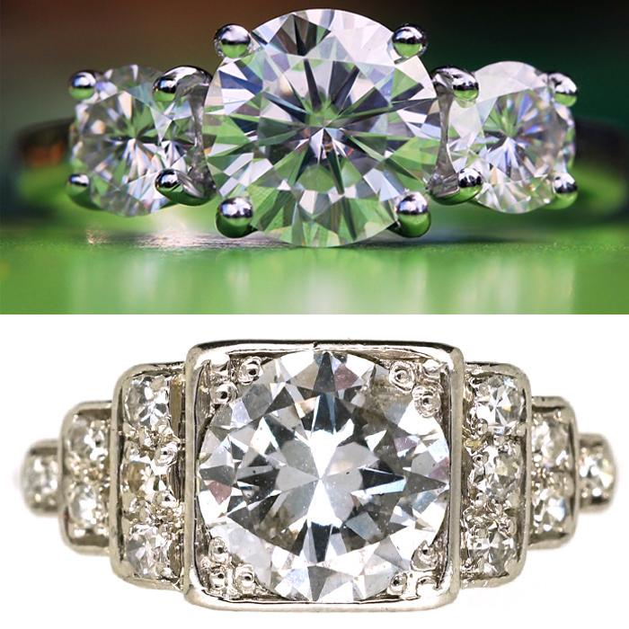 real or fake diamond ring