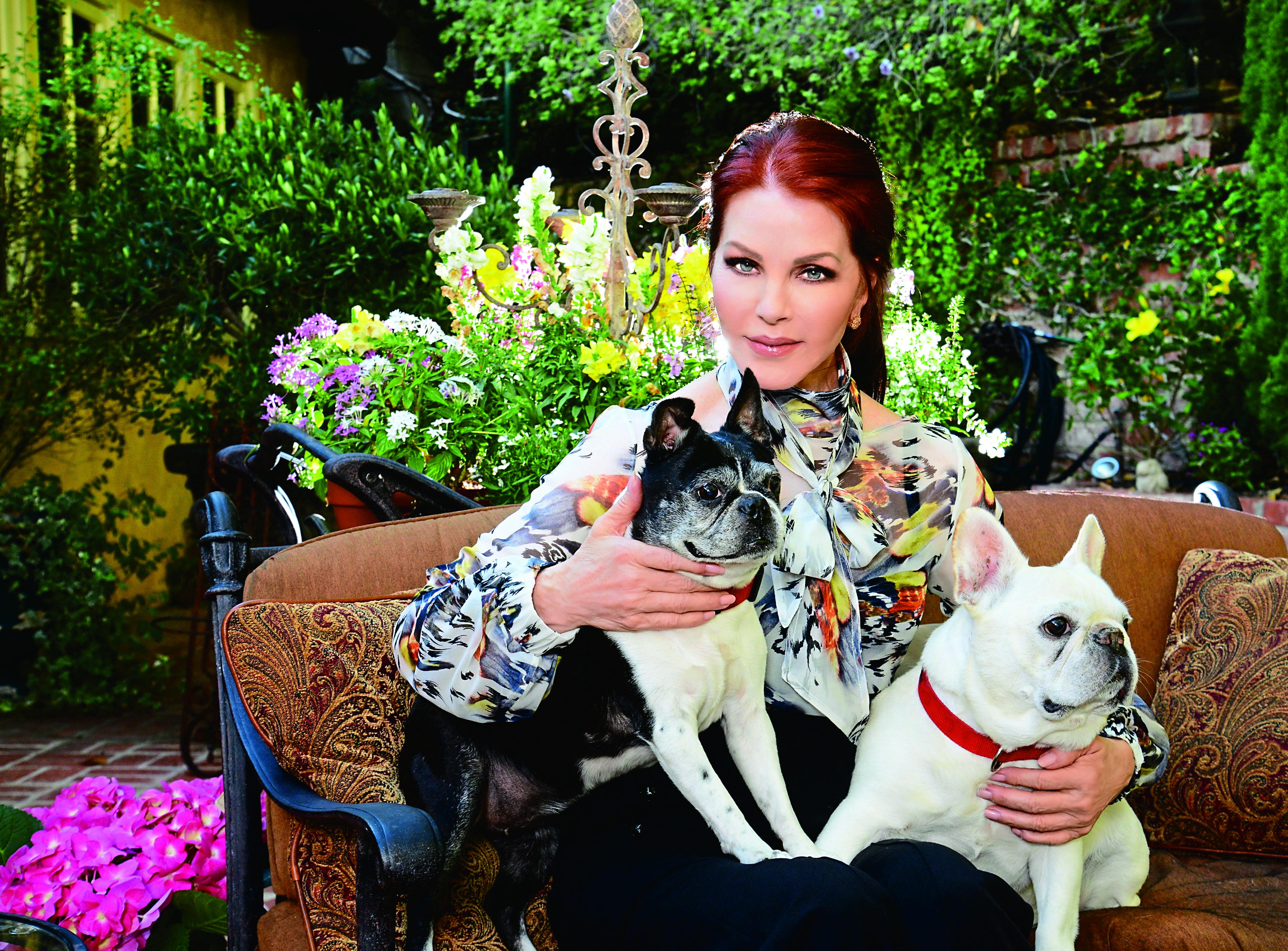 Priscilla Presley in her home, Closer Weekly