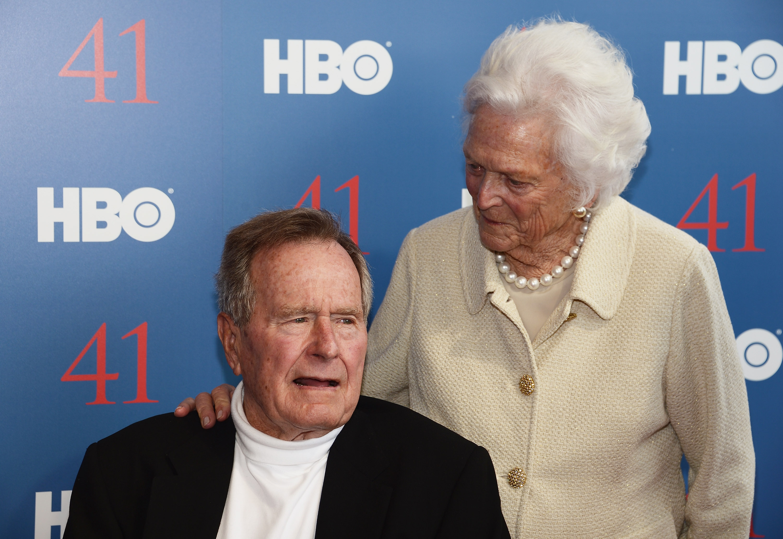 George H.W. Bush and Barbara Getty