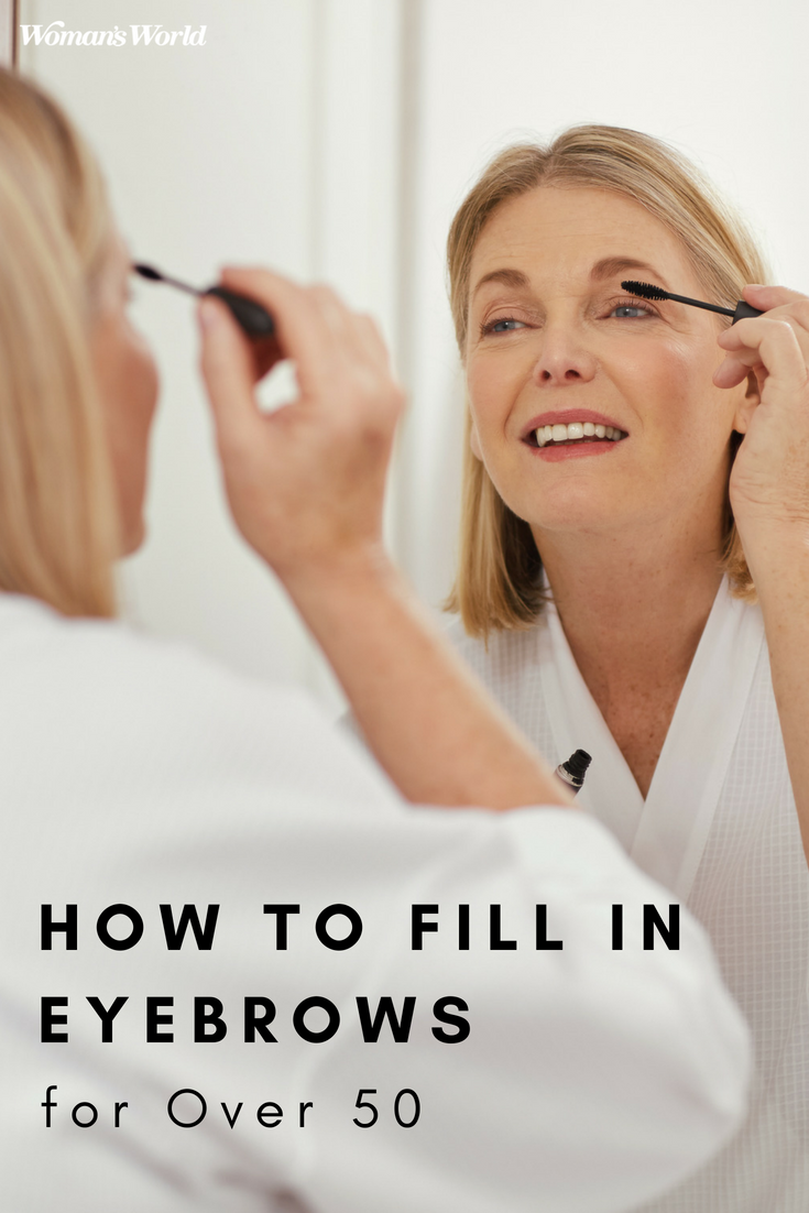 how to fill in eyebrows over 50 pin
