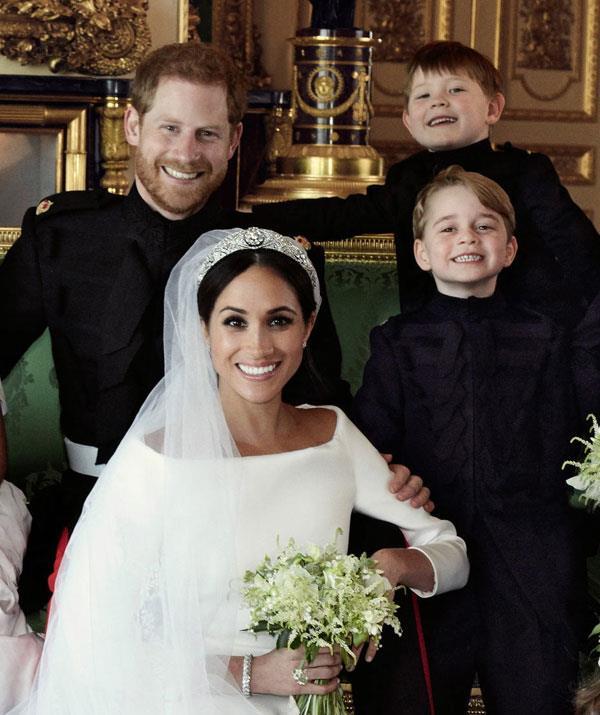 Prince George Royal Wedding Portrait NTL