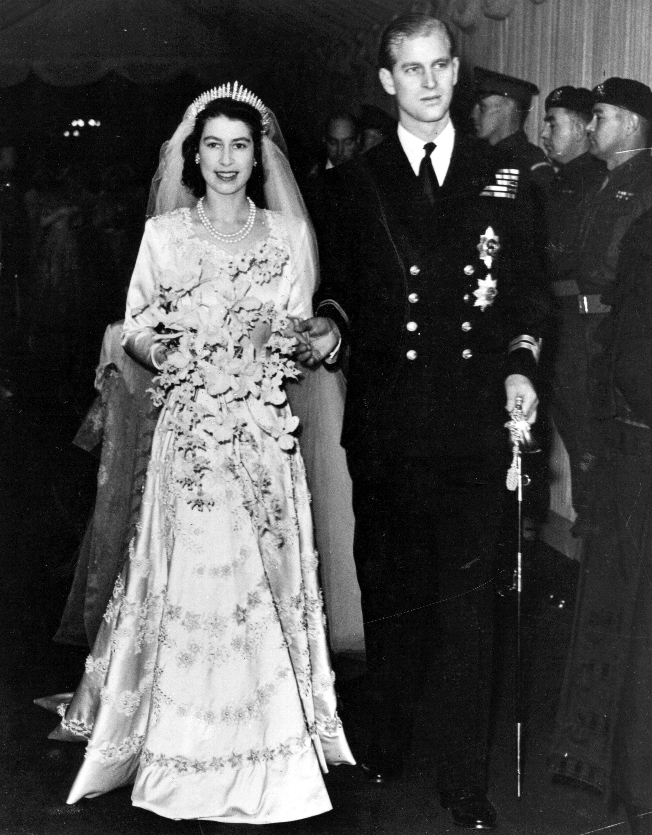 Queen Elizabeth Prince Philip Wedding Getty Images