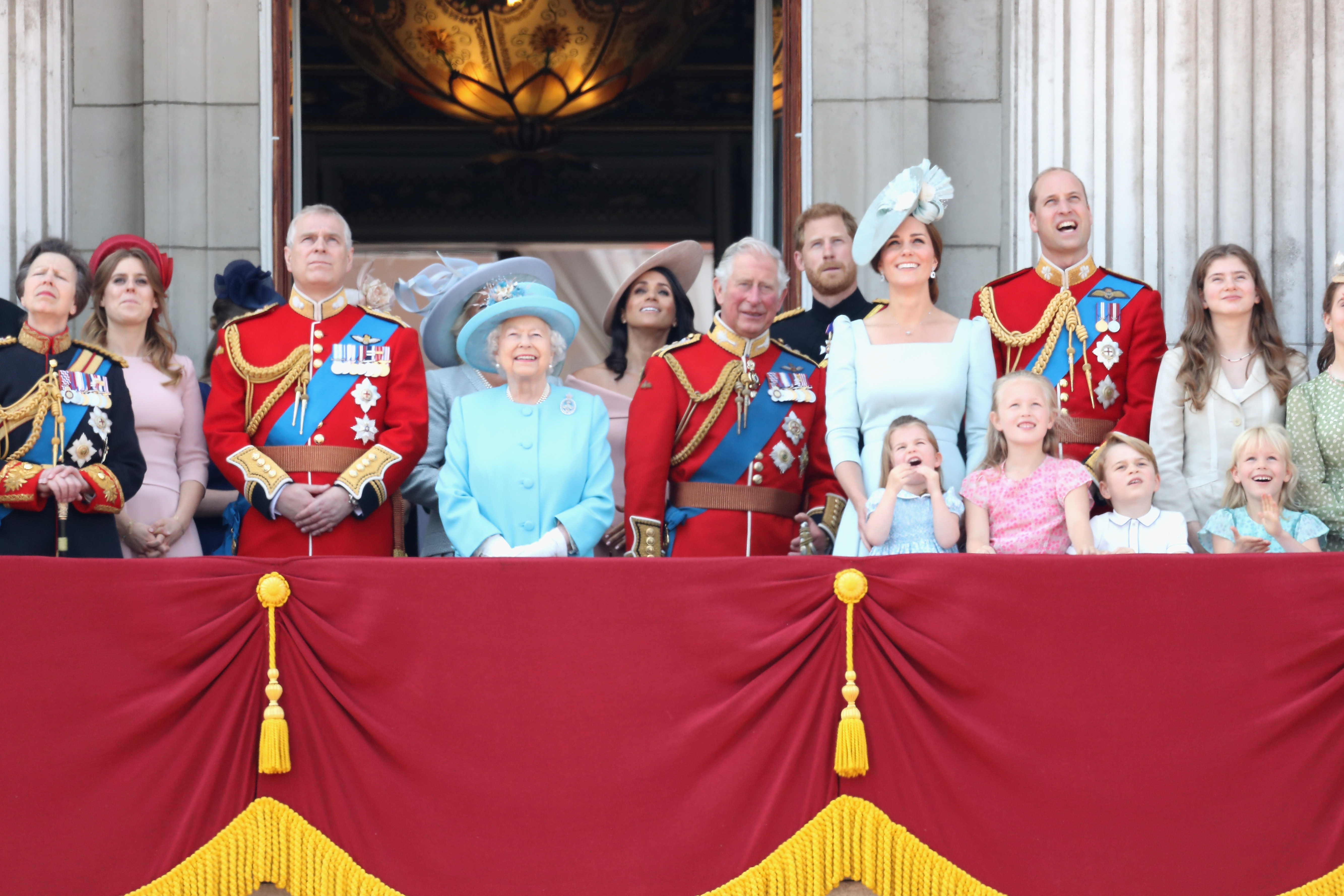 Royal Family Trooping the Colour Getty Images