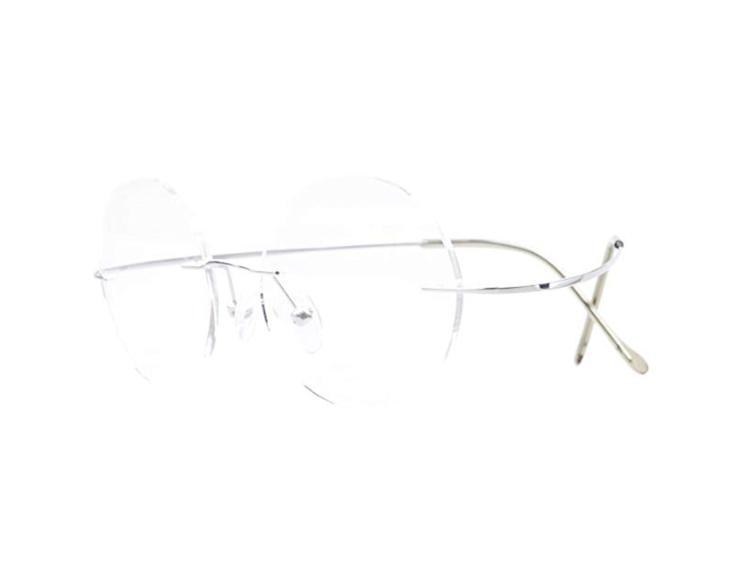 rimless round glasses