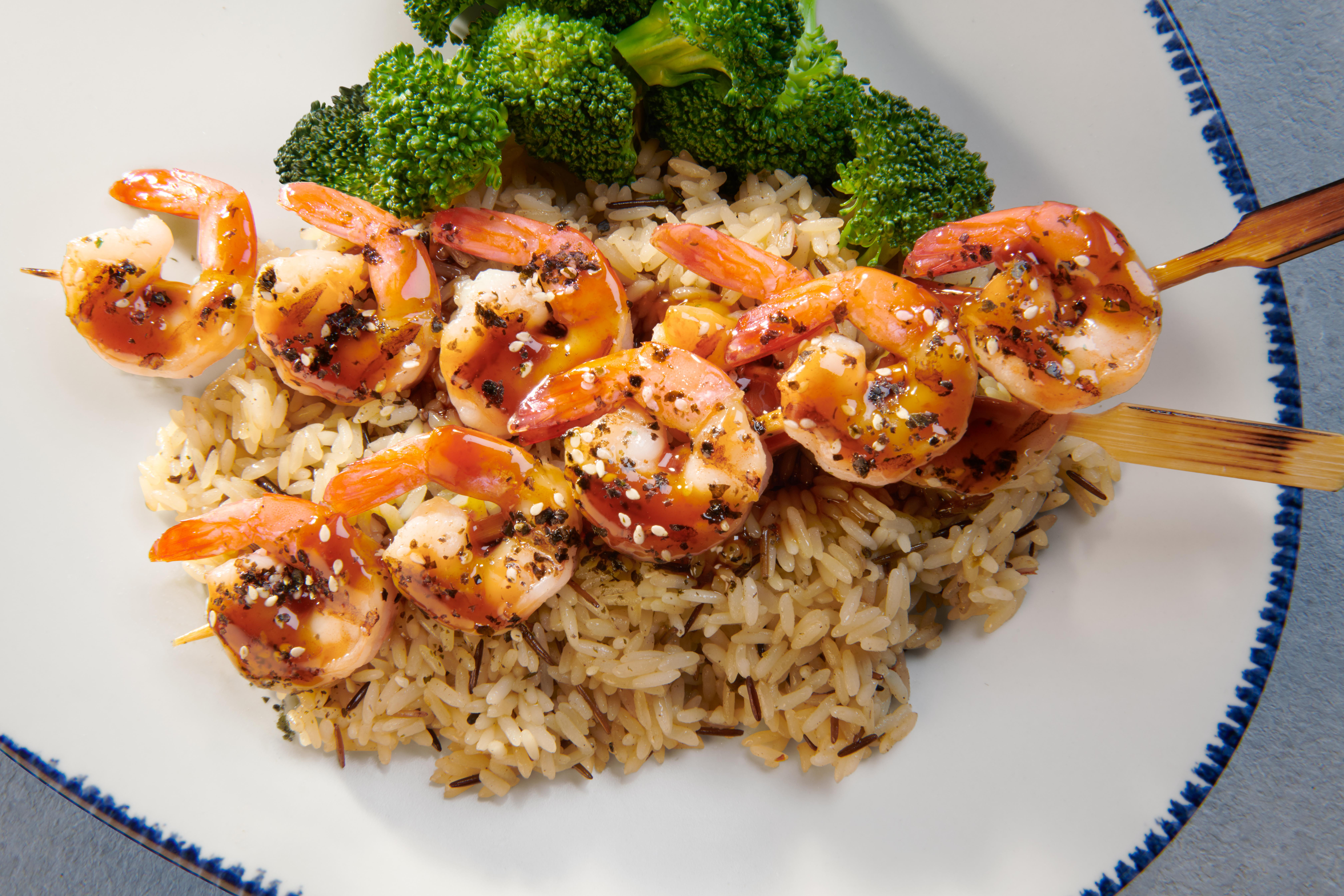 Sesame-Ginger Grilled Shrimp