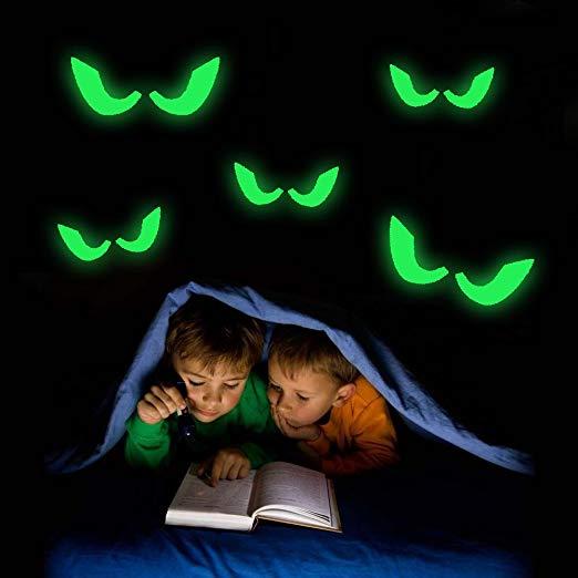 halloween candy bowls glow in the dark eyes