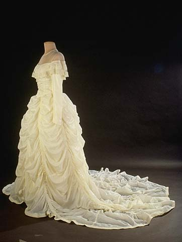 parachute wedding dress side