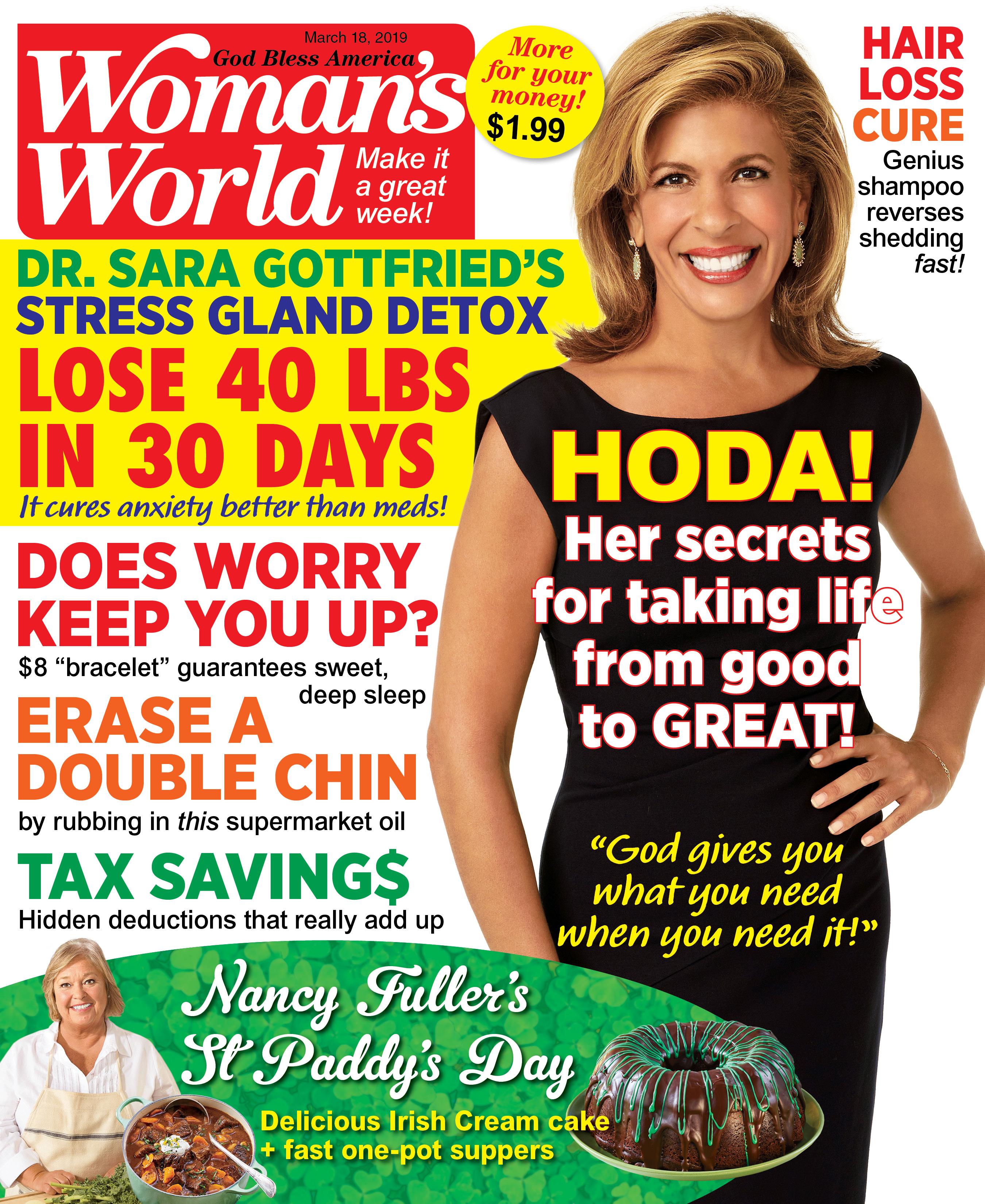 Hoda Kotb on the cover of Woman's World