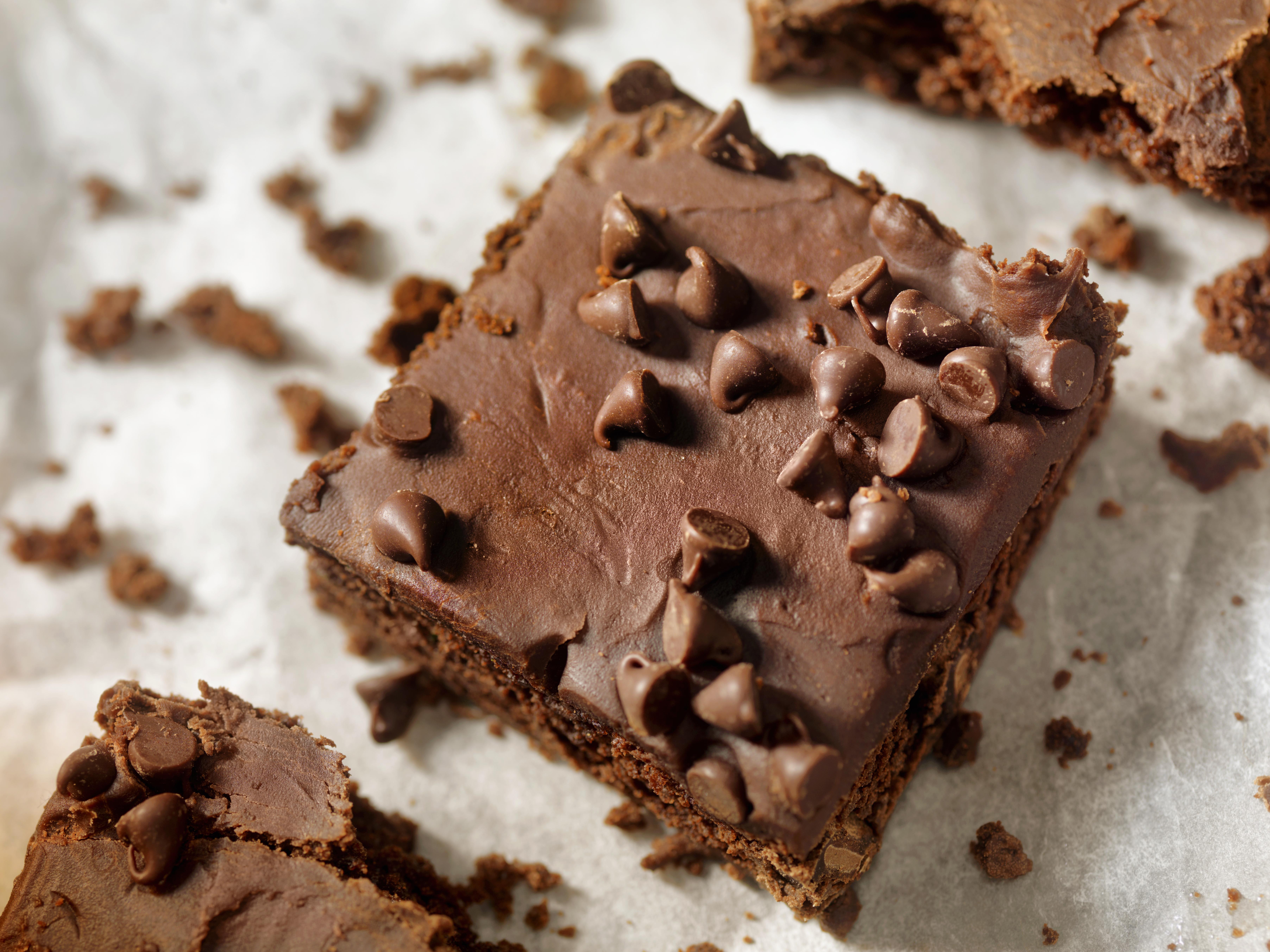 chocolate chip brownie