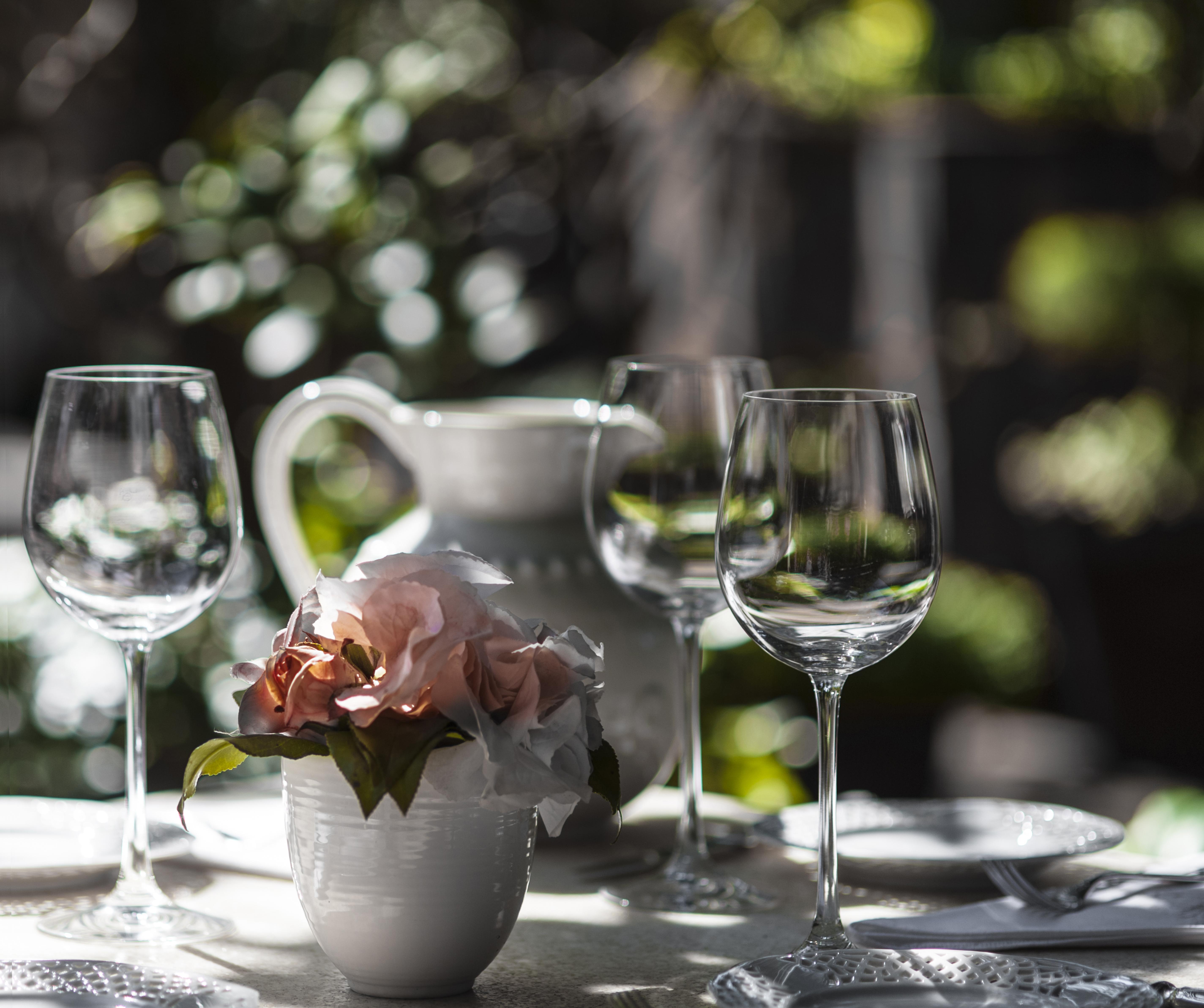 flowers in white mug
