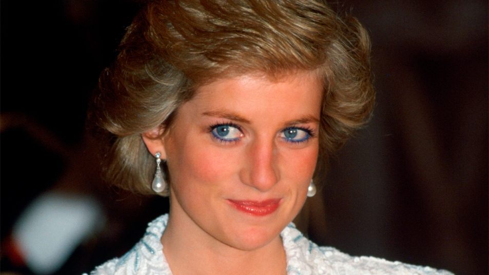 Princess Diana with blue eyeliner