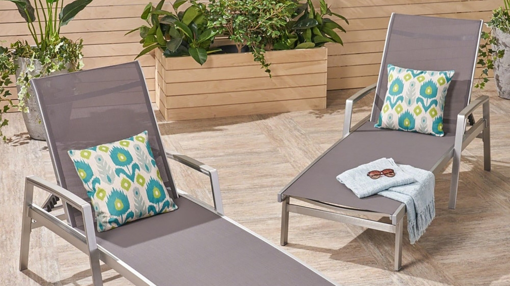 outdoor chaise lounge set