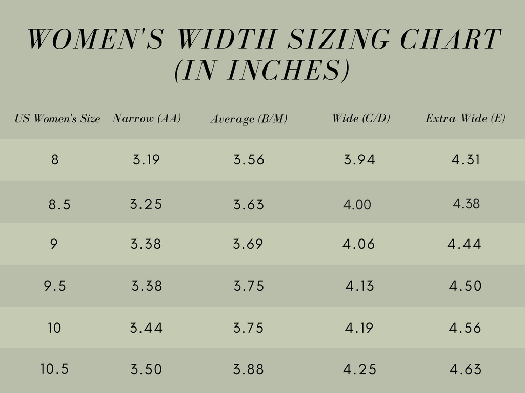 womens shoe width sizing chart 3