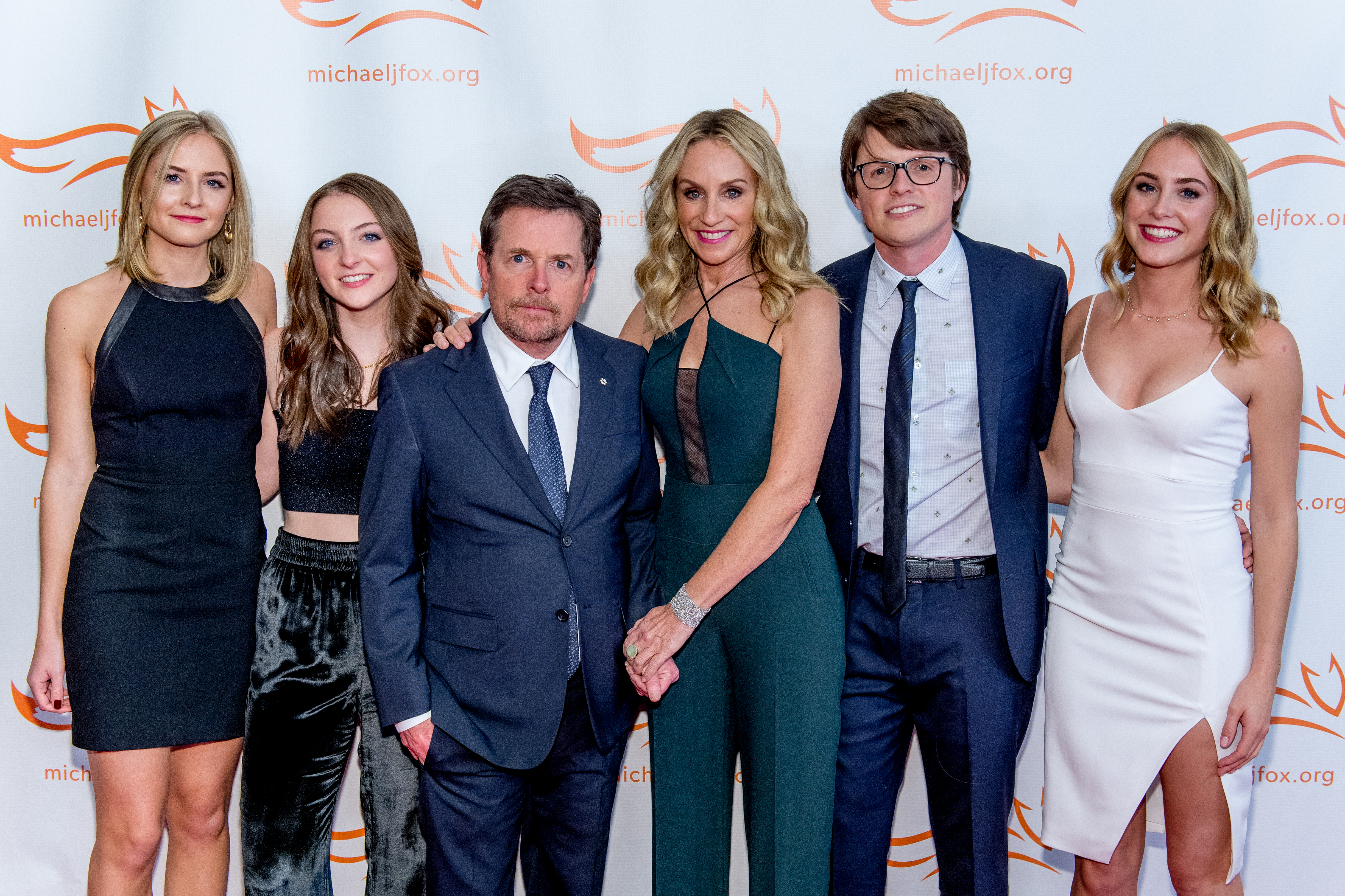 Michael J. Fox with his family
