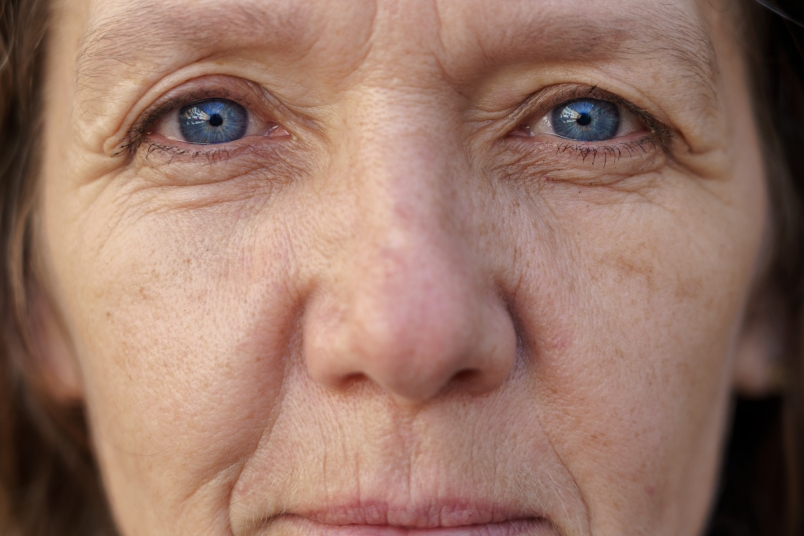 portrait of older woman's eyes