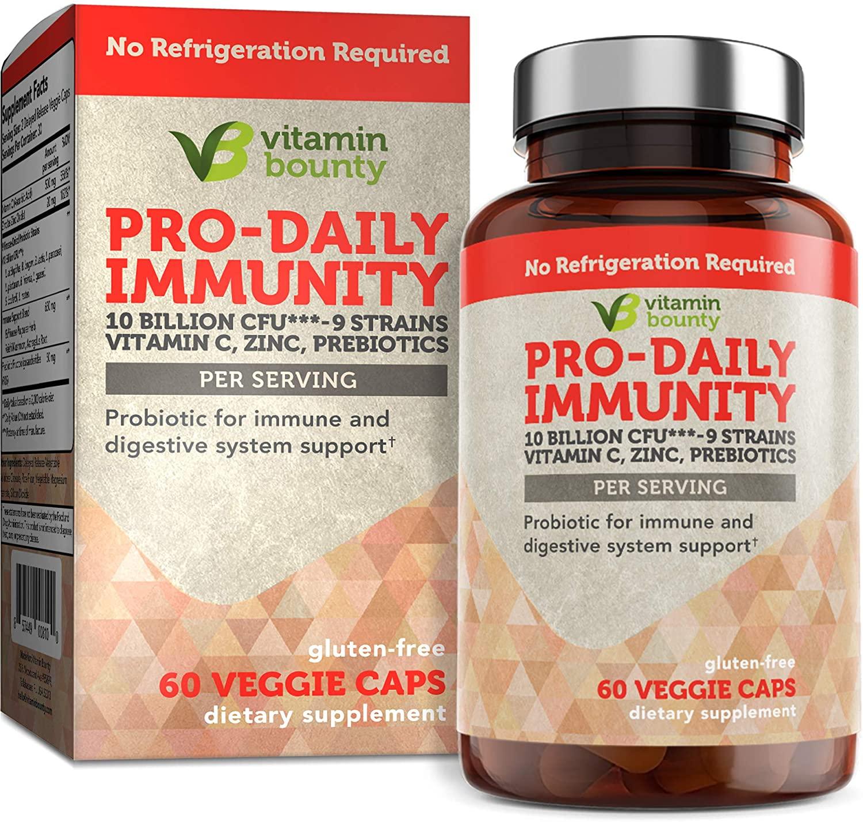 Immune Support Probiotics with Vitamin C & Zinc + Prebiotics