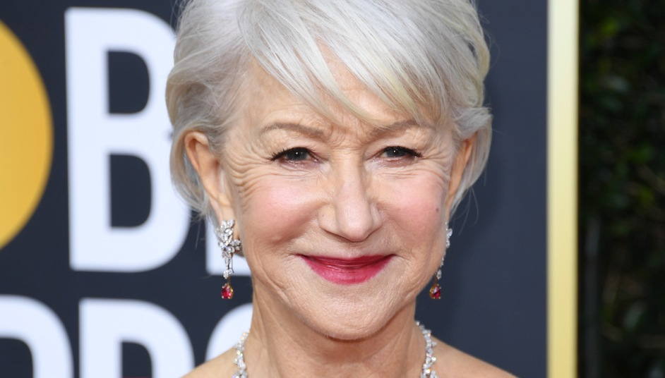 Helen Mirren at the 2020 Golden Globes