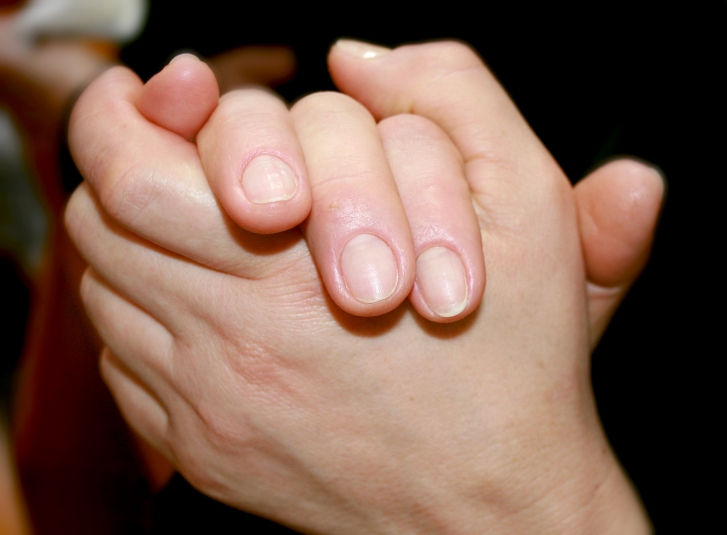 Close up of woman's hands