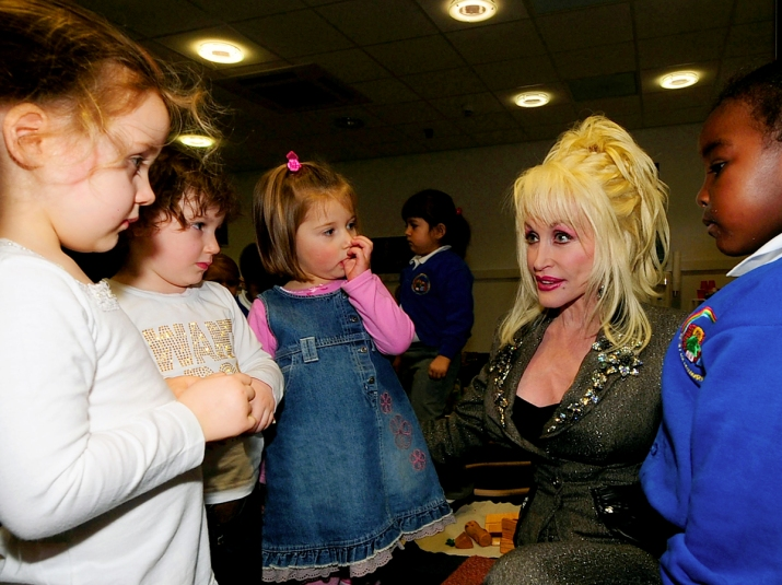 Dolly Parton with kids
