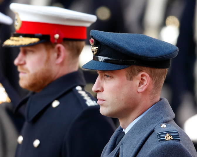 prince william and prince harry in uniform