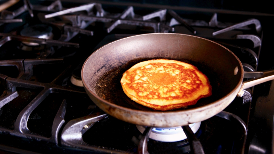 Pancake on the stove