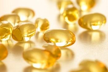 Vitamin D capsules.