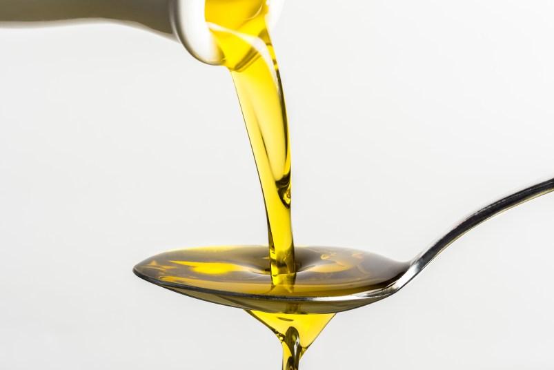 oil in spoon