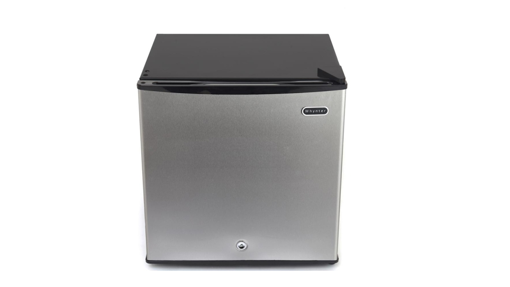 compact stainless steel freezer