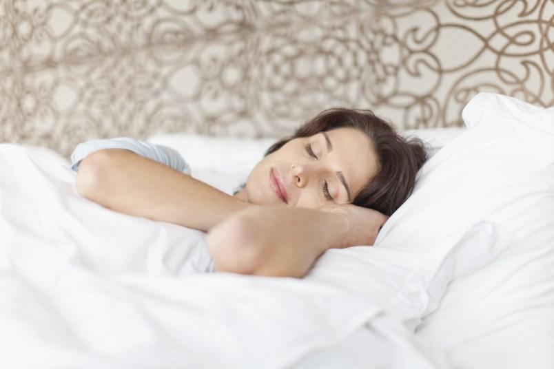 Woman asleep in bed