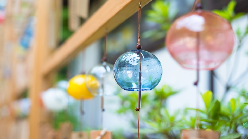 Close-Up Of Wind Chimes Hanging