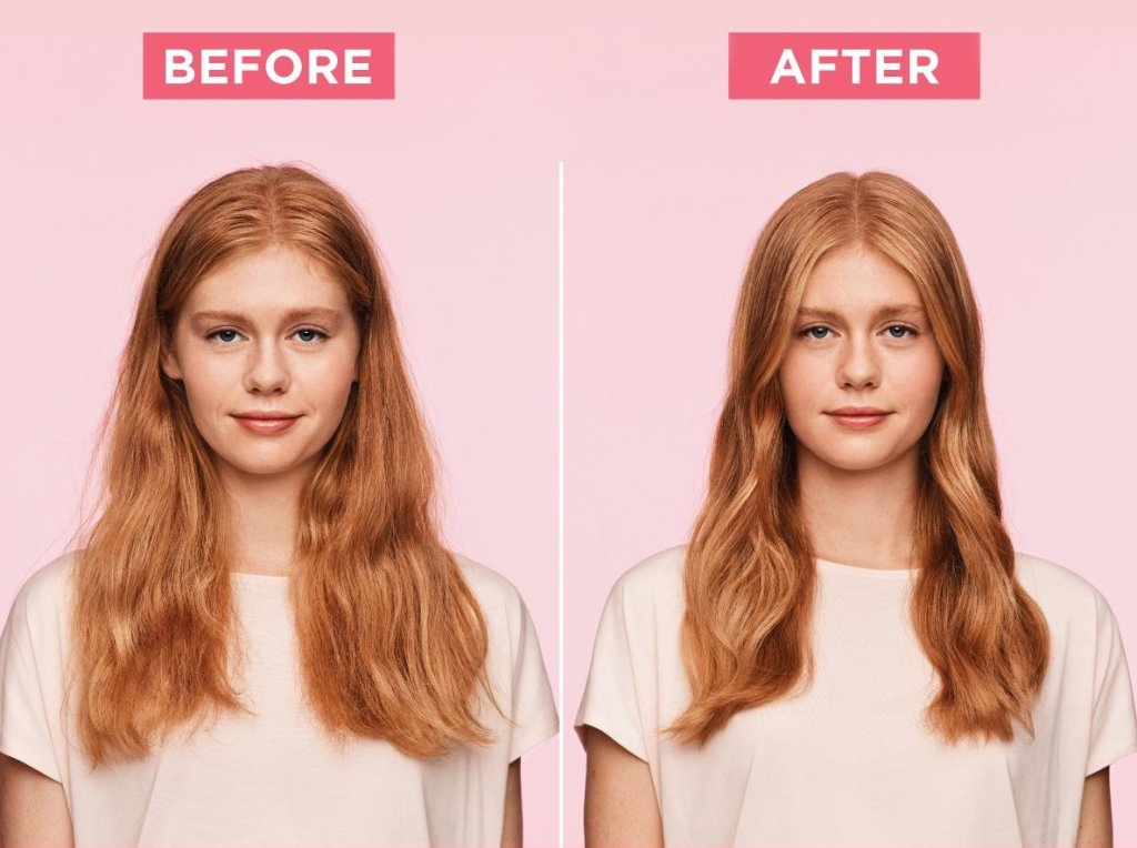 hair oil before after