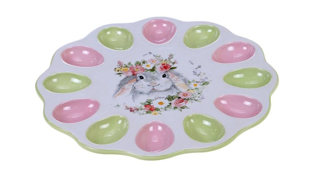 easter bunny deviled egg tray