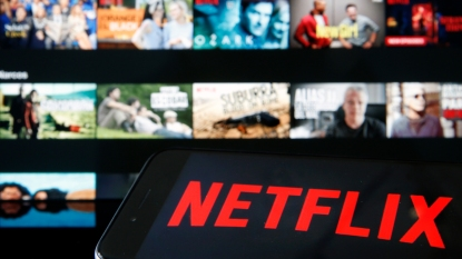 Netflix logo and streaming titles