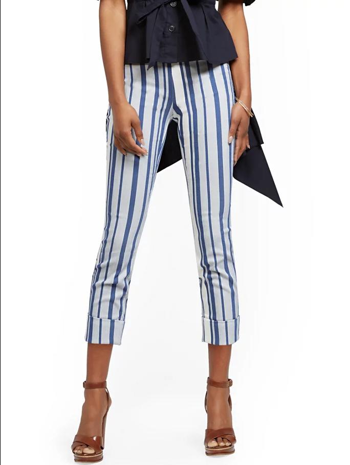 New York & Company Whitney High-Waisted Pull-On Capri Pant