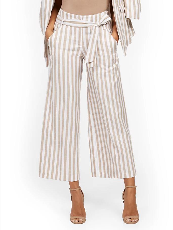 New York & Company Madie Wide-Leg Capri Pant
