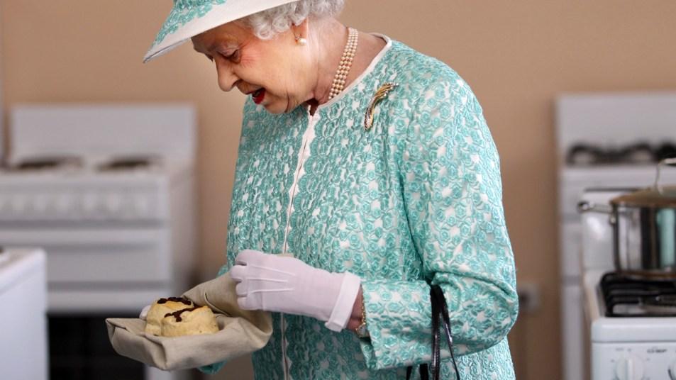 Queen Elizabeth with scones