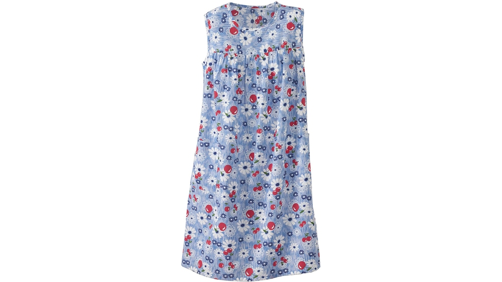 cherries and flowers house dress
