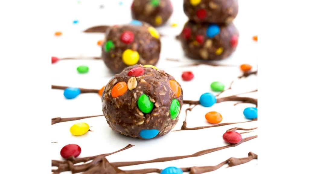 Nutella M&M no bake cookies