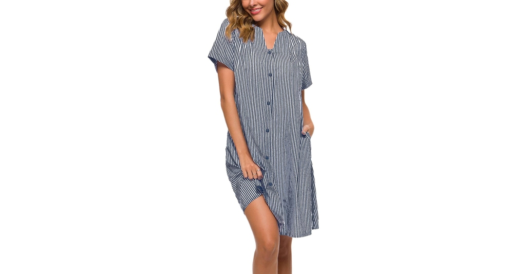 striped house dress