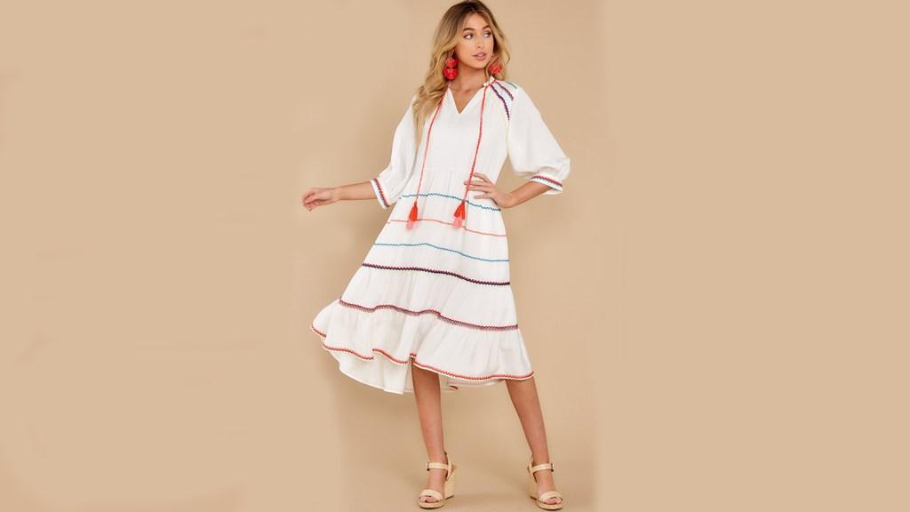 fringe tassel house dress