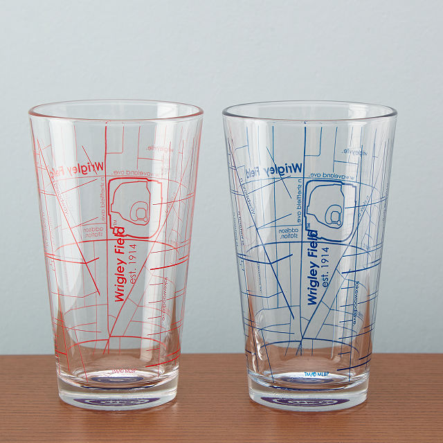 baseball pint glasses