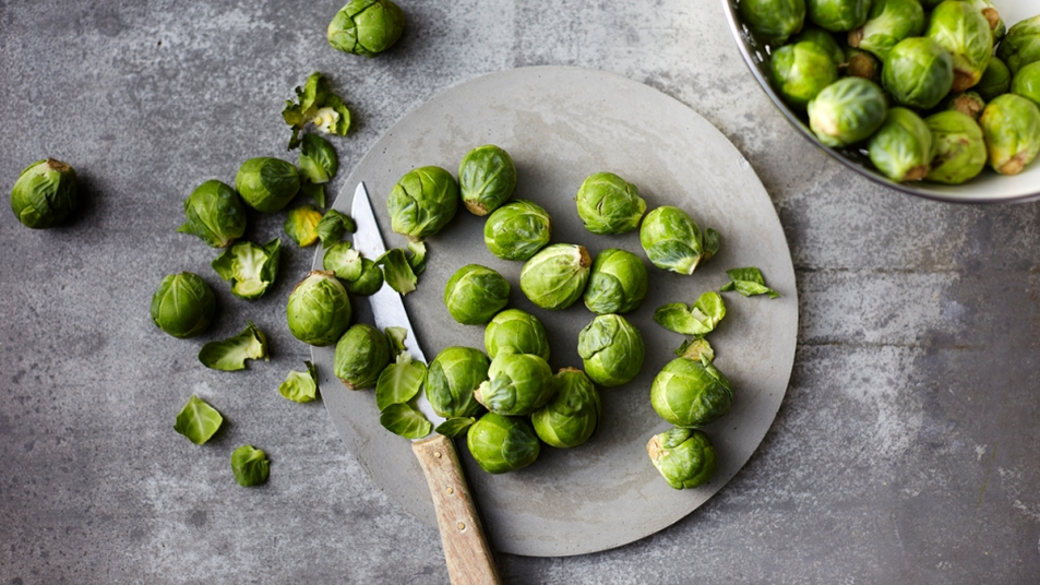 Brussels sprouts on a plate