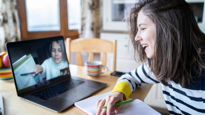 Online tutoring session