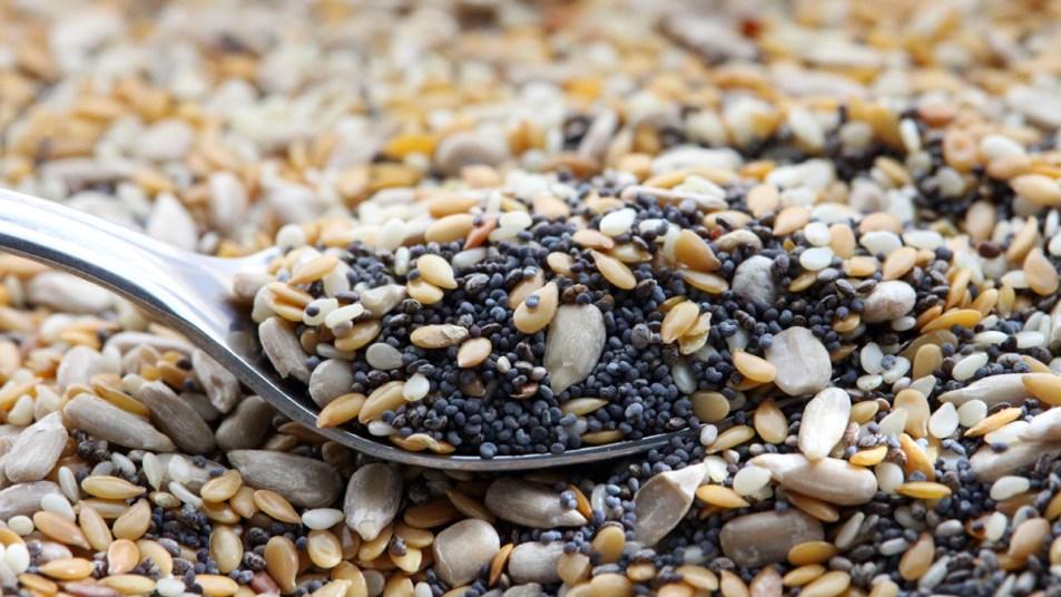 Spoon in seeds